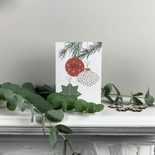 Load image into Gallery viewer, Christmas Baubles Greetings Card