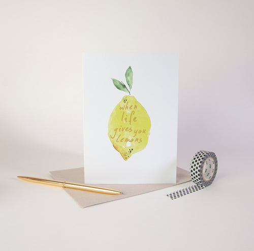 Life Lemons Greetings Card