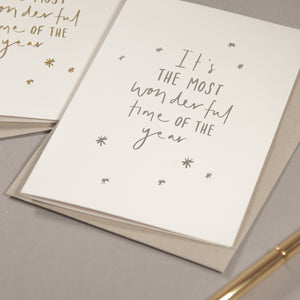 'Most Wonderful Time' Mixed Foil Greetings Card