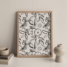 Load image into Gallery viewer, Fika Floral Repeat Print in Charcoal