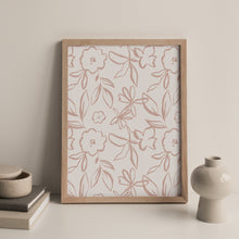 Load image into Gallery viewer, Fika Floral Repeat Print in Plaster