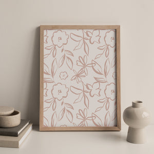 Fika Floral Repeat Print in Plaster