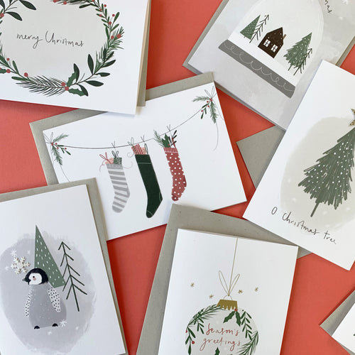 Assorted pack of 8 Christmas Greetings Card
