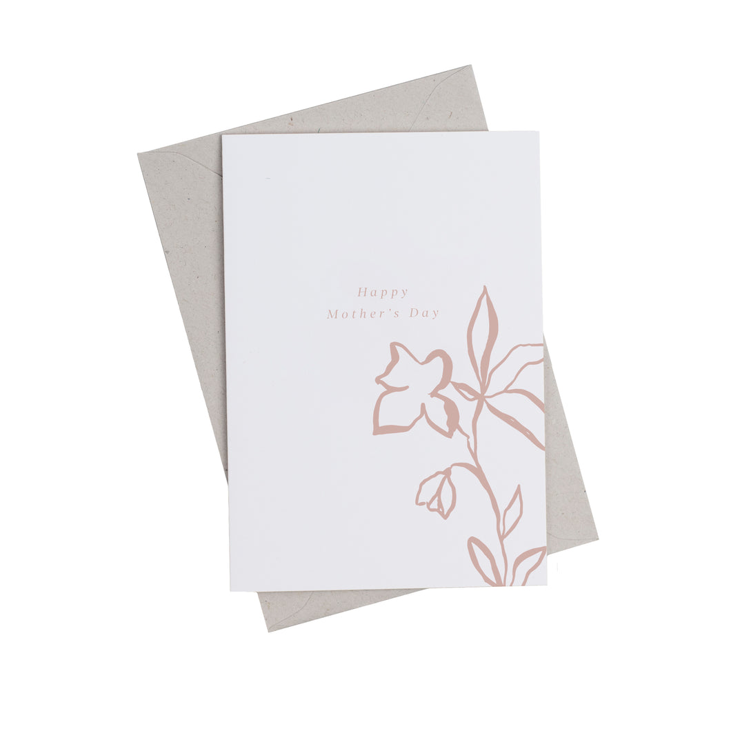 Fika Floral 'Happy Mother's Day' Greetings Card