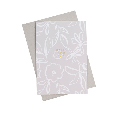 Fika Floral Happy You Day Greetings Card