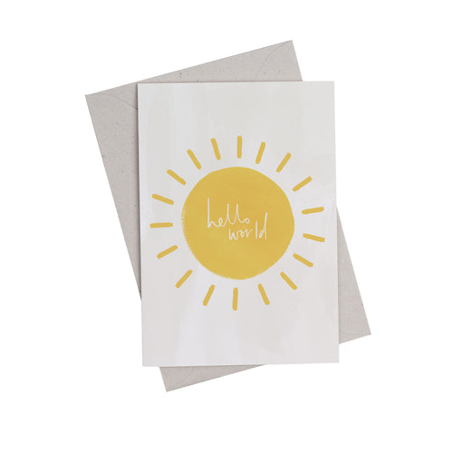 Hello World New Baby Greetings Card