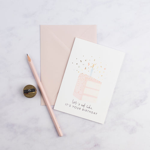 Confetti 'Eat Cake' Birthday Card