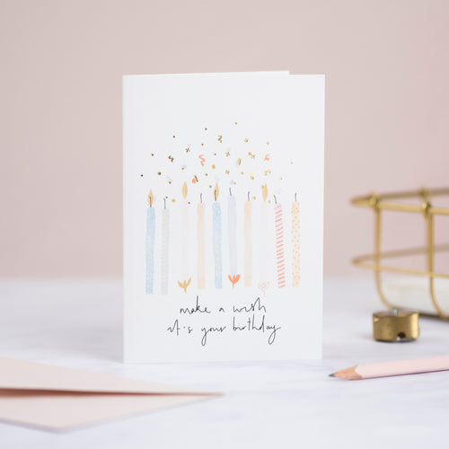 Confetti Candles Birthday Card