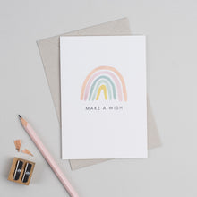 Load image into Gallery viewer, Make a Wish Rainbow Greetings Card