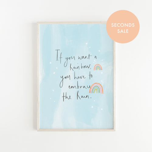 SECONDS SALE  Rainbow Quote Print