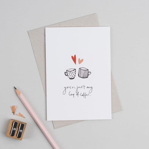Cup of Coffee Valentine's Card