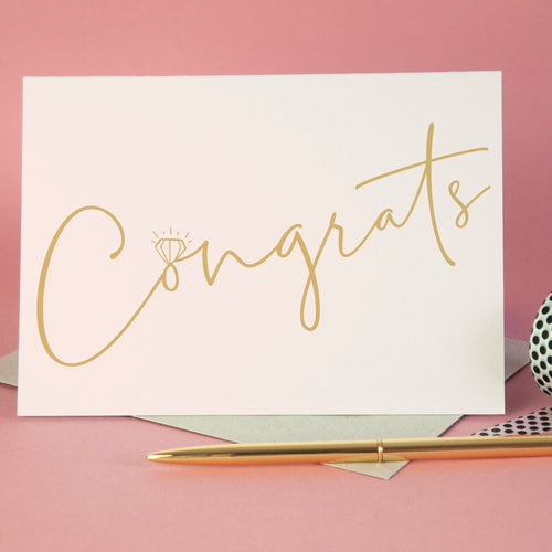 Congrats Engagement Greetings Card