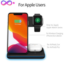 Load image into Gallery viewer, BiT-  15W 3 in 1 Qi Wireless Charger Stand for iPhone / AirPods / Apple Watch