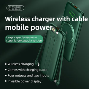 BiT - Wireless Power Bank - iPhone/Type C/Micro USB