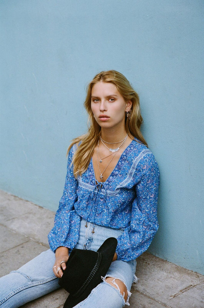 Arnhem Wisteria Blouse Moonlight Blue