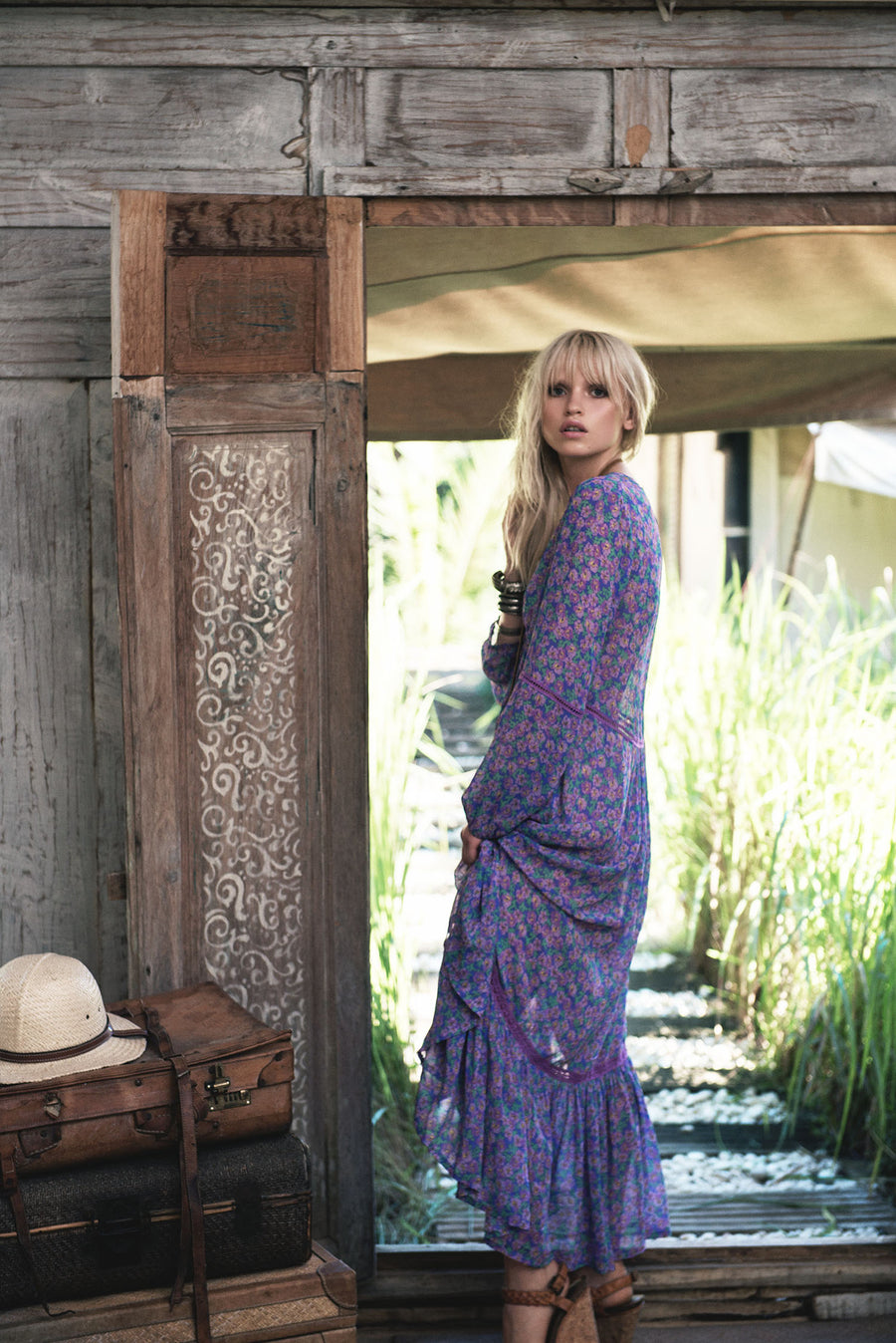 Spell Wildflower Maxi Dress Violet - Call Me The Breeze - 2