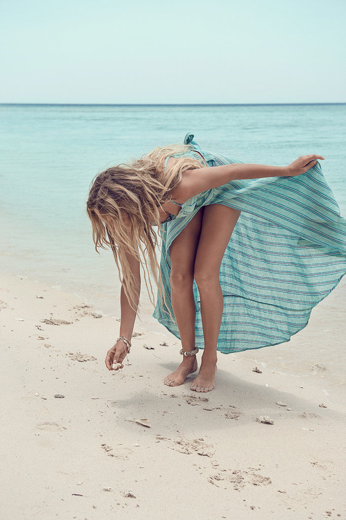 Spell Island Boho Wrap Skirt Turquoise - Call Me The Breeze - 4