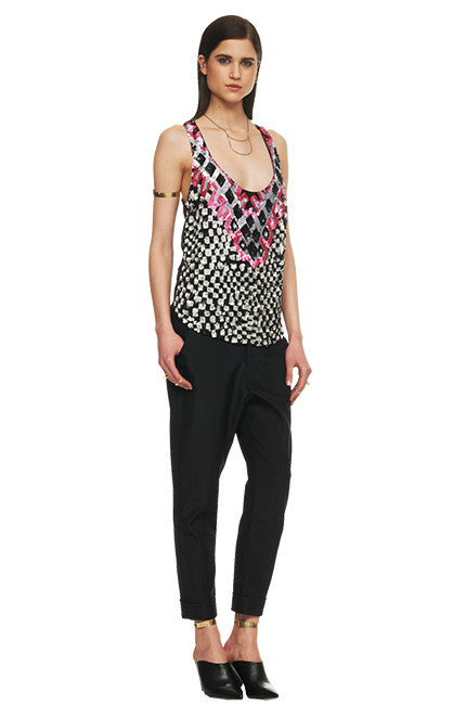 Mara Hoffman Racerback Sequin Tank Checkers - Call Me The Breeze