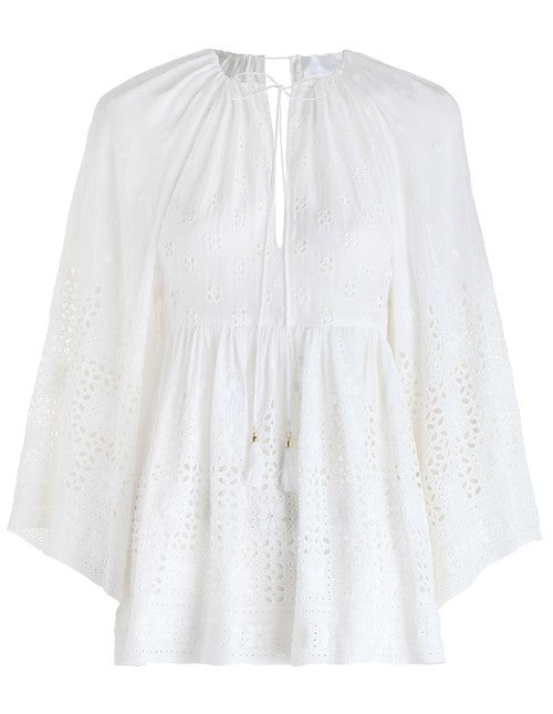 Zimmermann Harlequin Broderie Top White - Call Me The Breeze - 2