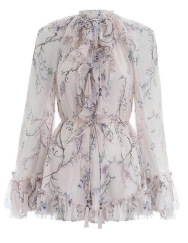 Zimmermann Paradiso Floating Playsuit Cream