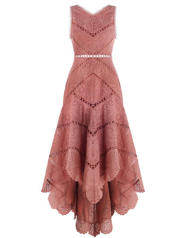Zimmermann Jasper Fan Dress Nude // PREORDER