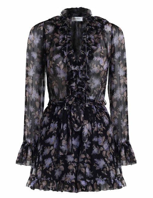 ca6d77d187f Zimmermann Stranded Ruffle Playsuit Black Lavender – Call Me The Breeze