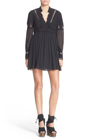 Free People Dreamland Dress Black - Call Me The Breeze