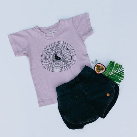 Children of the Tribe Yin Yang Stonewash Tee - Call Me The Breeze - 1