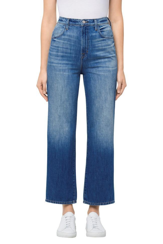 J Brand Joan High Rise Wide Crop Mimic