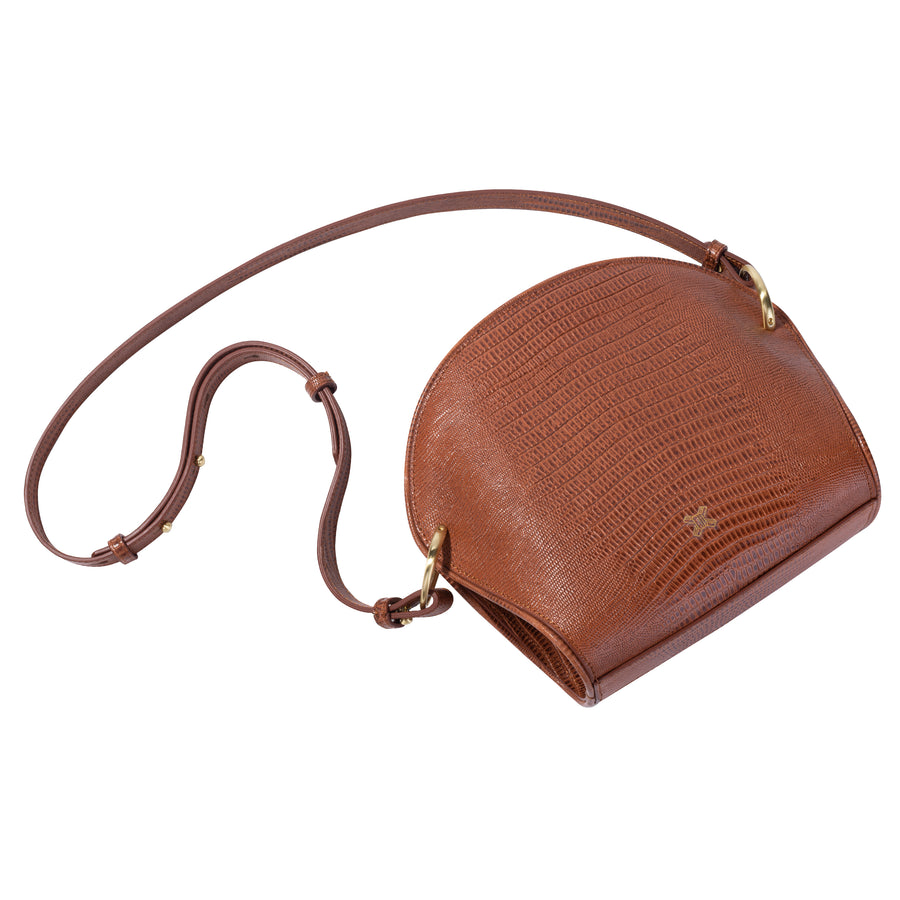 Sancia The Ayumi Mini Bag Antique Tan Lizard