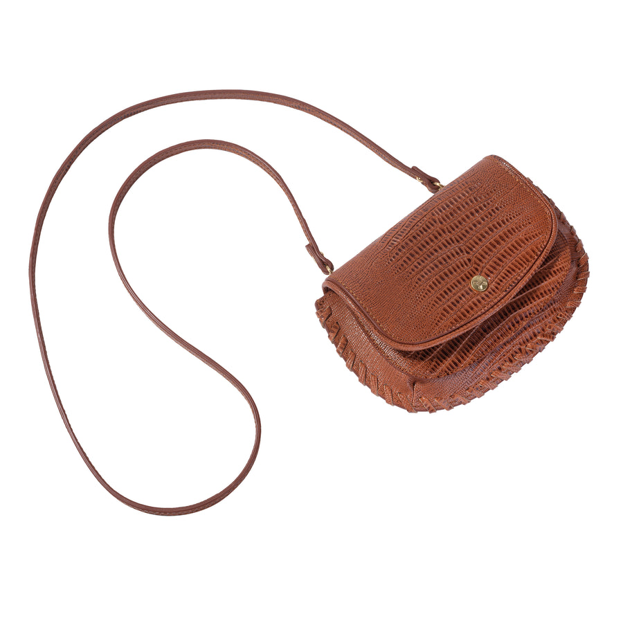 Sancia The Brigitte Belt Bag Antique Tan Lizard