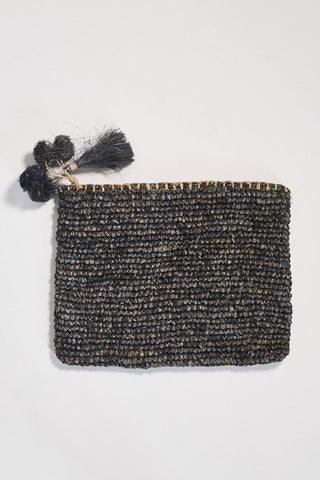 Poppy and Co Isla Clutch Charcoal - Call Me The Breeze