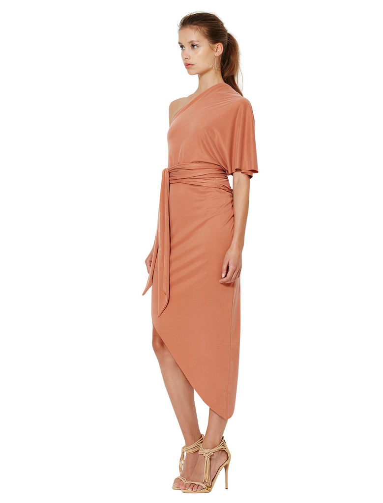 Bec and Bridge Delphine Asymmetical Dress Terracotta - Call Me The Breeze - 2