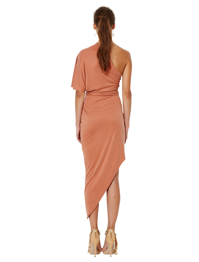 Bec and Bridge Delphine Asymmetical Dress Terracotta - Call Me The Breeze - 3