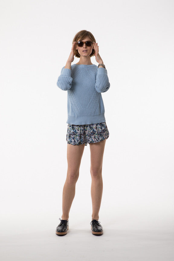 LILYA Palmer Knit Jumper Baby Blue - Call Me The Breeze