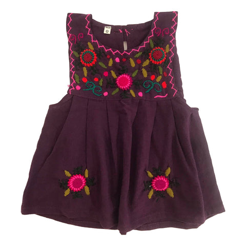 Guatemalan Collection Girls Embroidered Pinafore Dress Size 0 - Call Me The Breeze - 1