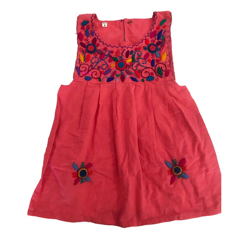 Guatemalan Collection Girls Embroidered Pinafore Dress Size 6 - Call Me The Breeze - 1