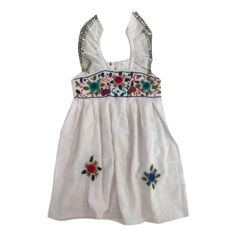 Guatemalan Collection Girls Embroidered Pinafore Dress Size 7 - Call Me The Breeze