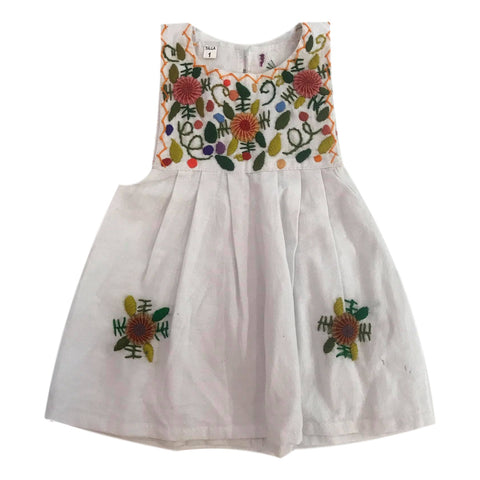 Guatemalan Girls Embroidered Pinafore Dress Size 1