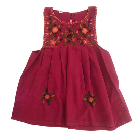 Guatemalan Collection Girls Embroidered Pinafore Dress Size 2 - Call Me The Breeze - 1