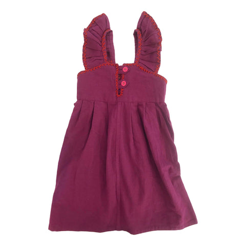 Guatemalan Girls Embroidered Pinafore Dress Size 5