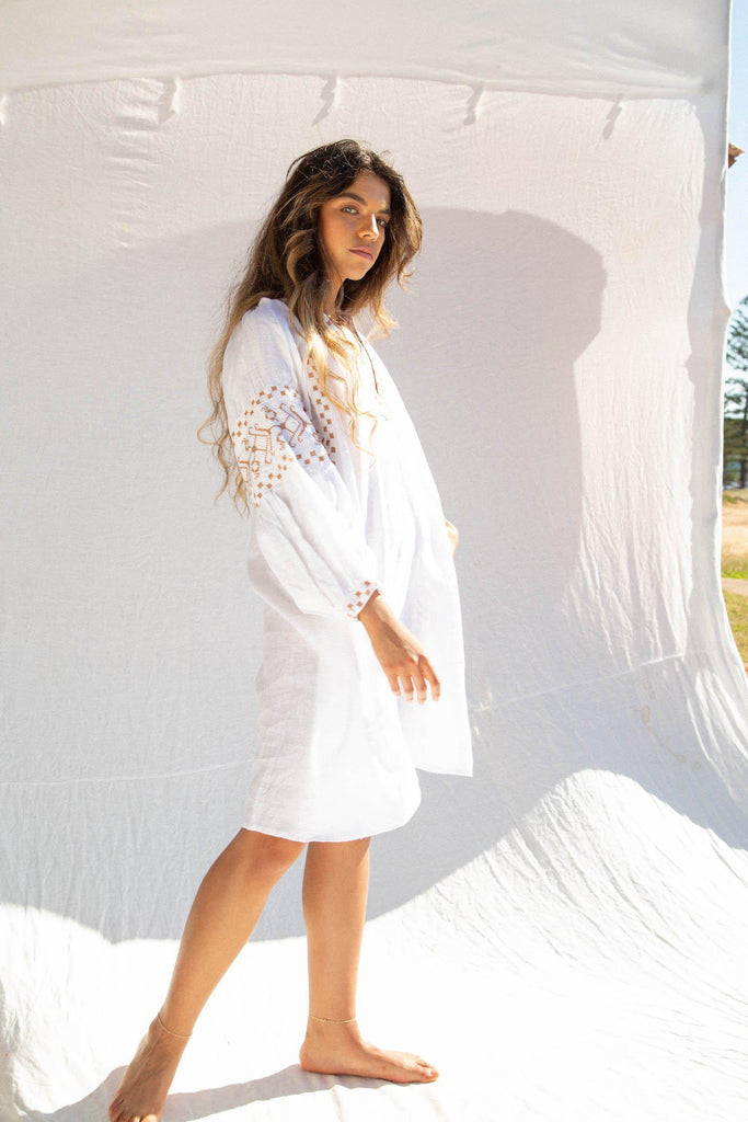 Kinga Csilla Roots Linen Dress