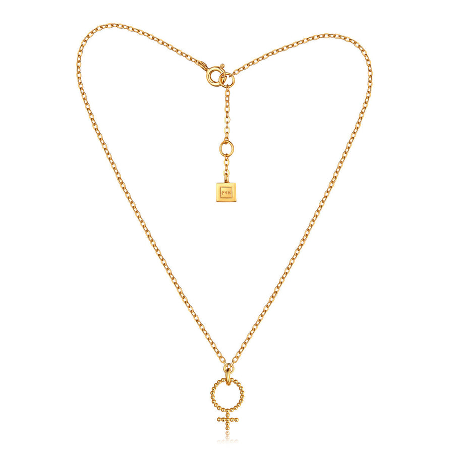 F and H Brooke Femme Necklace Gold - Call Me The Breeze - 1