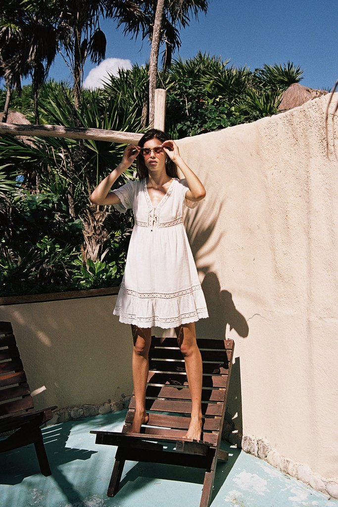 Arnhem Melody Mini Dress White