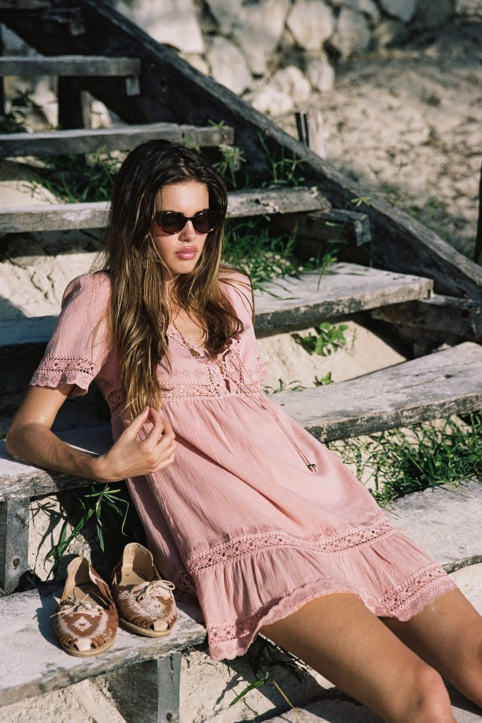 Arnhem Melody Mini Dress Blush