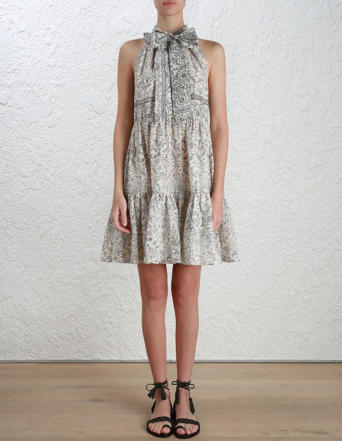 Zimmermann Caravan Bow Tiered Dress Batik // PREORDER - Call Me The Breeze - 2