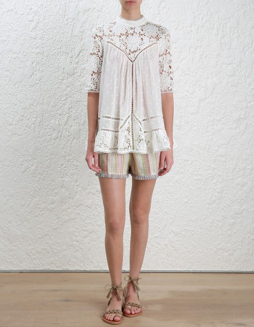 Zimmermann caravan Embroidered Smock Top - Call Me The Breeze - 2