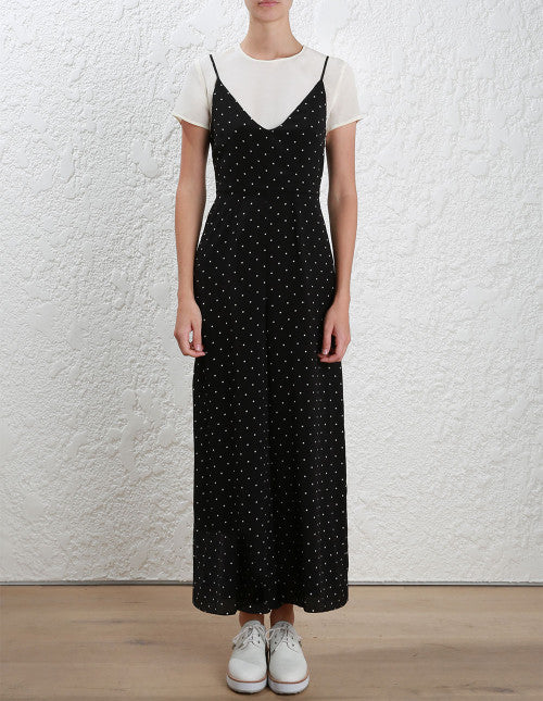 6cdd6952d64b Zimmermann Silk Tee Jumpsuit Black Dot Zimmermann Silk Tee Jumpsuit Black  Dot
