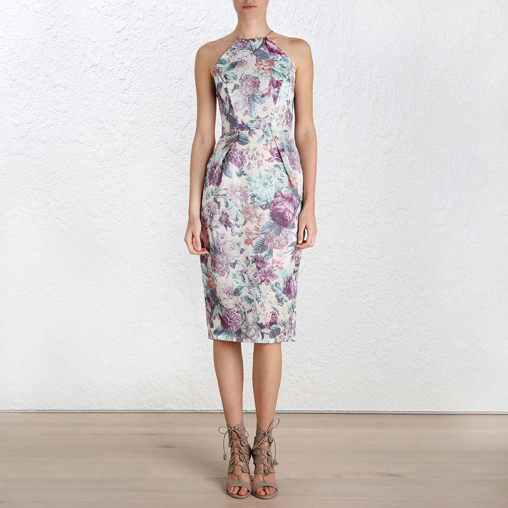 Zimmermann Rhythm Inverted Tuck Dress Floral - Call Me The Breeze - 2