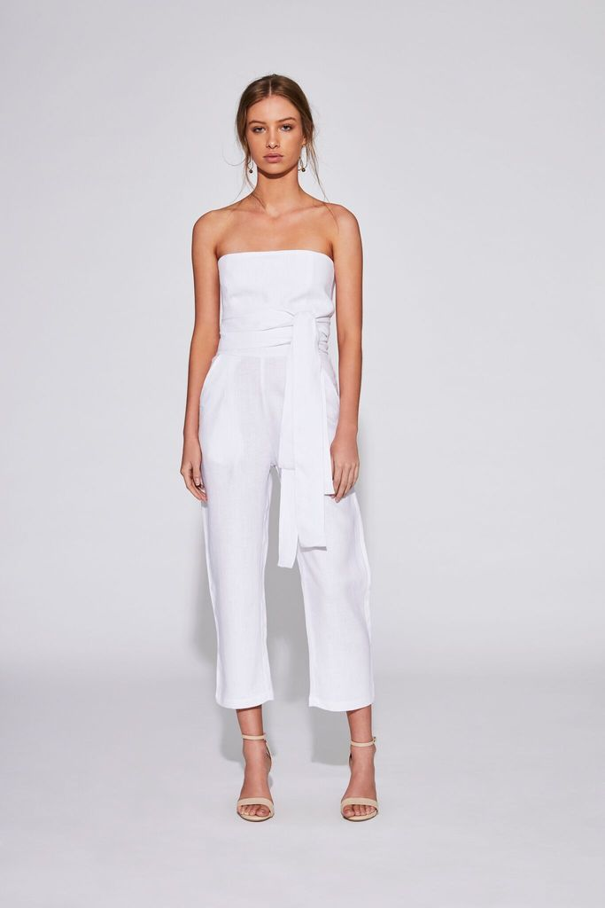 6fe5fffe78 Previous. Sir The Label Ines Strapless Jumpsuit White. Sir The Label Ines  Strapless Jumpsuit White